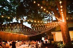 Backyard Lights Ideas A Canopy Of String Lights In Our Backyard Canopy Backyard And
