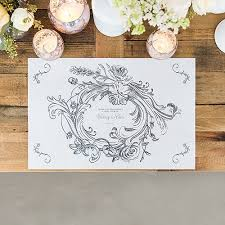 antique chic personalized paper place mat floral frame the