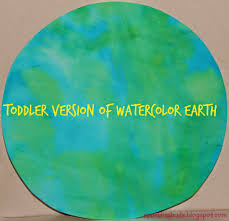 toddler version of watercolor earth sparklingbuds