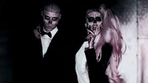 lady gaga dressed normal for halloween image detail for lady gaga and the skeleton tattoo dude from