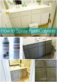 how to repaint bathroom cabinets how to spray paint cabinets bathroom makeover you can spray paint