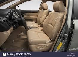 lexus rx 400h suv for sale 2007 lexus rx 400h hybrid in beige front seats stock photo