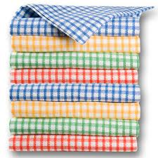 torchon de cuisine torchon cuisine office tissé carreaux 4 couleurs panachées l