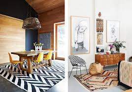 5 design trends we re tired of and what we re doing instead black and white or tribal colored chevron rugs make bold statements in these eclectic