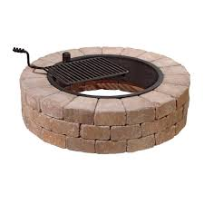 Firepit Grates Necessories Grand 48 In Pit Kit In Bluestone With Cooking
