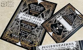 gatsby wedding invitations the glittering gatsby wedding invitation sle set