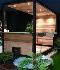 cuisine d été en bois fabricant cuisine d extérieur été meuble plancha inox