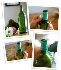 how to make a wine bottle l diy ribbon wrapped wine bottle vase paperblog