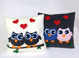 owl home decor felt fleece stuffed pillow owls cushion home decor valentine s gifts