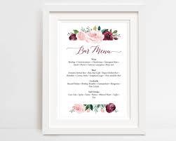 wedding drink menu template your drinks with this printable and editable bar menu