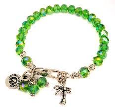 bracelet color crystal images Palm tree splash of color crystal bracelet american made pewter JPG
