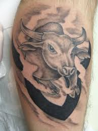 wonderful taurus bull tattoo