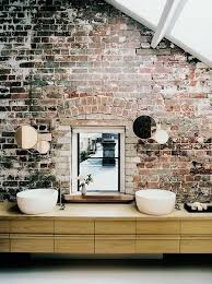 Rustic Bathroom Colors Renovation Inspiration Brick Concrete And Wood In Rustic