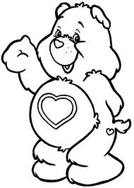 bedtime bear sleeping tight care bear colouring happy