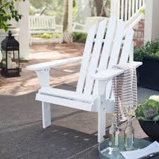 Adirondack Outdoor Furniture Coral Coast Pleasant Bay Acacia Adirondack Chair White Hayneedle
