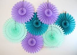 cheap 16 inch purple paper fans pom wheel fans hanging