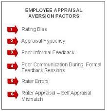 why employees dislike performance appraisals regent global