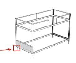 Ikea Tuffing Bunk Bed Hack Triple Bunk Bed Diy Ikea Hackers Ikea Hackers