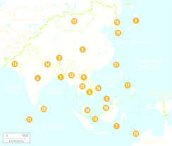 Countries Of Asia Map by Asia Maps With Map Of Countries In Asia Evenakliyat Biz