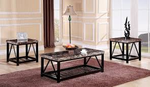 metal frame table and chairs red barrel studio rosalin faux marble metal frame 3 piece coffee