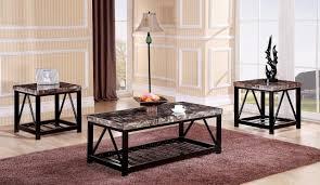 metal frame coffee table red barrel studio rosalin faux marble metal frame 3 piece coffee
