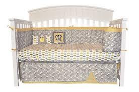 Bedding Set Crib Dk Leigh Owl 10 Gender Neutral Crib Bedding Set Yellow