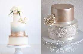 wedding cake gold gold wedding cakes bronze copper cake magazine