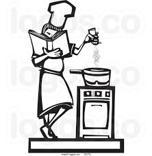 7 Black And White Kitchen by Man Cooking Clipart Clipground
