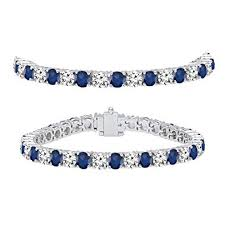 white gold ladies bracelet images Dazzlingrock collection 18k white gold round real blue jpg