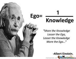 Big Ego Meme - ego and knowledge proportion by ben meme center