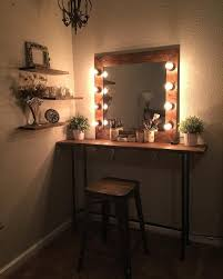 Table Vanity Mirror With Lights Cute Easy Simple Diy Wood Rustic Vanity Mirror With Hollywood