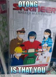 Masker Di Alfamart kini otong pakpol jadi bintang iklan salah satu produk masker