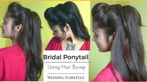 ponytail bump easy wedding ponytail hairstyle using bumps volumized