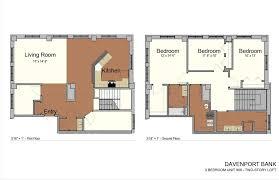 two apartment floor plans unique floorplans with historical charm davenport bank apartments