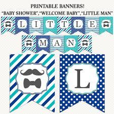 mustache theme baby shower banner navy blue teal little man