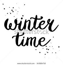 winter time lettering stock vector 343884716
