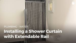 How To Install Shower Curtain How To Install A Shower Curtain Diy Projects Youtube