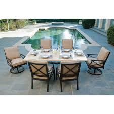 Swivel Rocker Patio Dining Sets Costco Travers 7 Patio Dining Set Outdoor Pinterest
