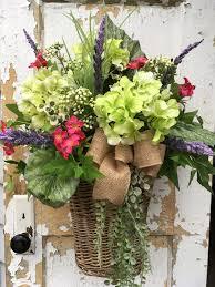 large spring wreath large hydrangea wreath large spring basket