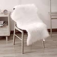 White Fur Rugs White Fur Rug Amazon Co Uk