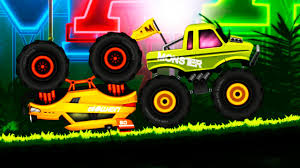 monster truck video game play jungle monster truck for kids android hd gameplay video youtube