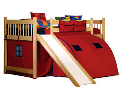 Bunk Bed With Slide And Tent Childrens Bunk Beds With Slides The Interesting Inspiration Of