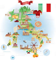 Map Of Florence Italy Cartoon Map Of Italy Stock Vector Art 506817182 Istock