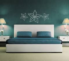 flower wall sticker above bed decor wall graphic decal over