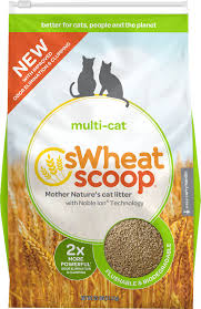 swheat scoop multi cat natural wheat cat litter 25 lb bag chewy com