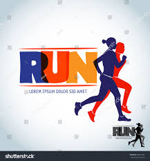 run club logo template sport logotype stock vector 568713832