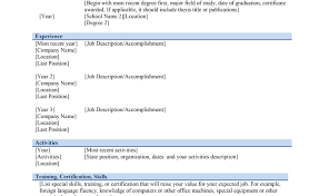 resume beautiful chronological resume templates sample