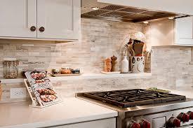 kitchen fantastic natural stone backsplash for bright and warm