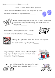 year 1 money word problems transport theme by beckyjanehutchings