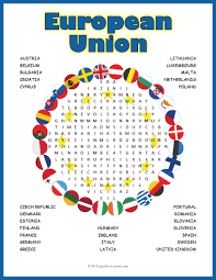 Printable Halloween Word Search Puzzles by Europe Geography Activity European Union Word Search Word